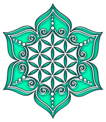 flower-of-life-lotus-flower-green-symbol-of-perfection-and-balance